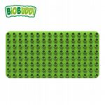 BiOBUDDi - Baseplate Green - Eco Friendly Block Set - 1 Plate